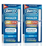 Nicotine-Free Smoke-Free Oxygen Inhaler with Soft Tip Chewable Filter for Maximum Relief, Clinically Studied to Help Cope with Oral Fixation and Quit Smoking Support (Twin Pack, Menthol)