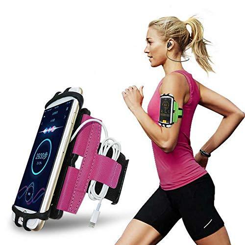 CoverKingz Fascia da braccio universale per smartphone da 4,0 a 7,0 pollici, con scomparto per chiavi, colore: verde