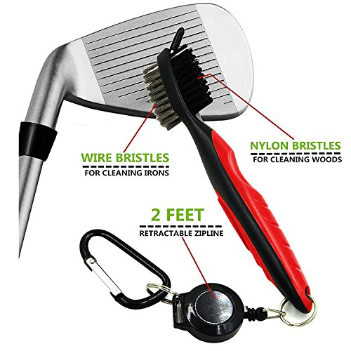 Yoport Golf Club Brush and Club Groove Cleaner 2