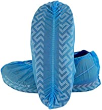 Innovative Haus Premium Thick Extra Large Disposable Boot & Shoe Covers   Durable, Non-Slip,Treads, Water Resistant, Non-Toxic,100% Latex Free   Stronger than Competitor-40 grams   100-Pack Blue  