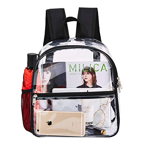Clear Mini Backpack Stadium Approved, Cold-Resistant See Through Backpack, Water proof Transparent...