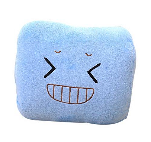 Koala Superstore Encantador Más cálido Almohada de Descanso de Oficina Mala Sonrisa Emoji Mano más Caliente Azul