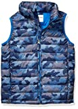 Amazon Essentials Kids Boys Light-Weight Water-Resistant Packable Puffer Vests, Blue Camo,...