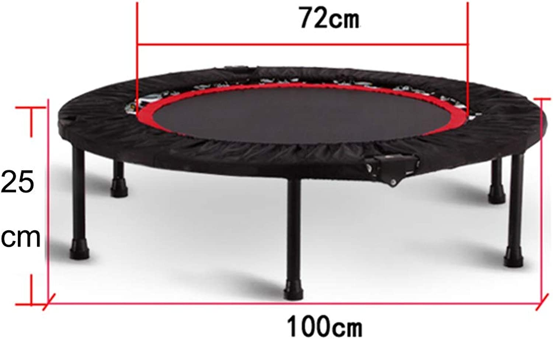 GHHZZQ Minitrampolin Jumping Fitness Indoor Jumping Workout Für Krpertraining Und Cardio Workouts (Farbe   Schwarz, Größe   100cm)