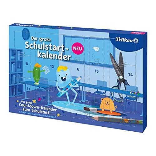 Pelikan 818285 - Agenda escolar con 15 puertas rellenas de artículos escolares, 1 unidad