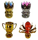 3 Pack Birthday Candle Assortment, Gold, Silver, and Sport Ball You Choose Happy Birthday Candle (Basketball)