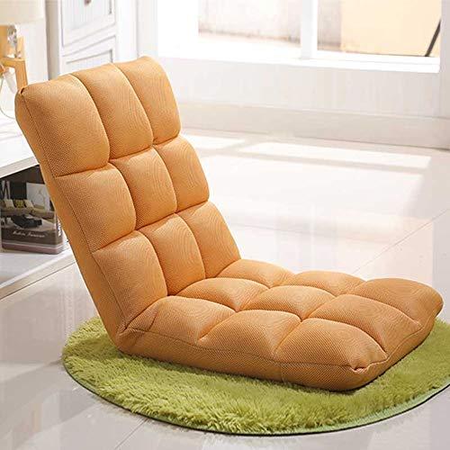 ZHEYANG Sillones Lazy Sofa Plegable Individual Pequeño Sofá Cama Computadora Respaldo Piso Sofá Silla (Color : Brown)