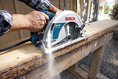 Bosch Professional Scie circulaire Filaire GKS 85 (2 200 W, Ø de la lame de scie: 235 mm, pack d'accessoires)