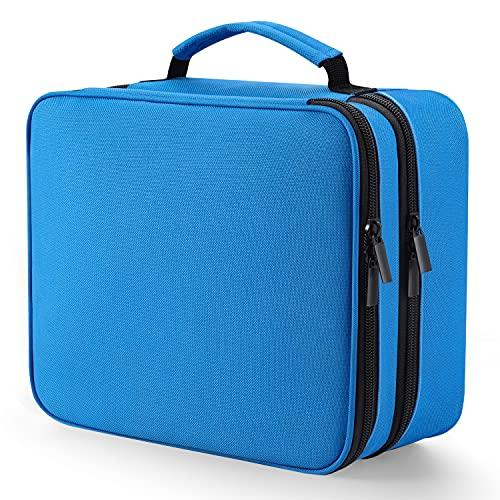Borse Organizer per Cavi-Organizza Bag Elettronica per Caricabatterie da Viaggio a 3strati Grande con Tasca Antiurto per Tablet,Porta Cavi Organizer con Cavo Custodia Tecnica per Accessori Elettronici