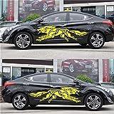 180X50CM autoadesivi lupo totem 3D graffiatura della copertura Car-styling riflettente strisce moto Decorare Auto Sticker Decal Film (Color Name : Yellow)