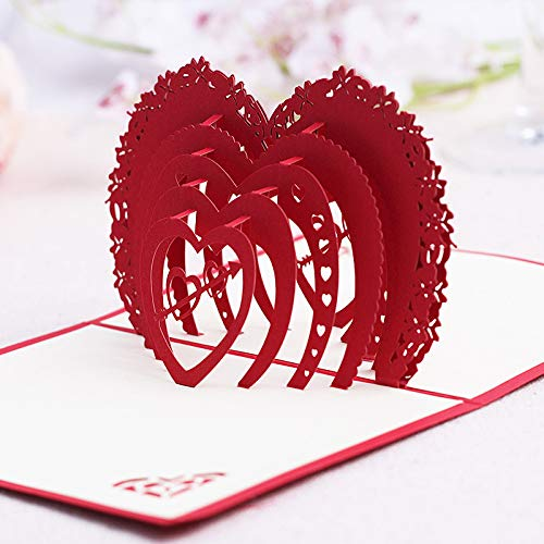 3D Mother's Day Card Creative Handmade Paper 3D Pop Up Card Greeting Card Blessing Card for mom Wife,Wedding Birthday Anniversary Any Occasion.