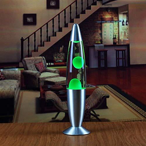 nakw88 Lámpara de Lava lámpara de Medusa lámpara de Noche Luminosa romántica Sala de Estar decoración lámpara Regalo de Novedad 33 * 9 cm (Color:Azul) (Color : Green)
