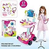 Arztwagen Kinder Arztkoffer Spielzeug Doktor Trolley Doktorkoffer Pädagogisches Spielzeug für...