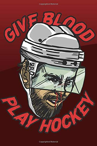 Give Blood Play Hockey I For Ice Hockey Fans: Ready to Play Paper Games | Hockey / Hangman, Tic Tac Toe, Four In A Row, Battleships ( 6 x 9 inches - ... Trip Entertainment Pencil and Paper Games