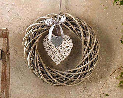 'Ghirlanda 'LOVELY gekalkt porta gioielli cuore corona porta corona natura Modern