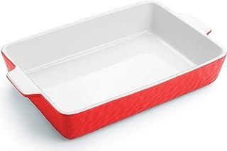 Krokori Baking Dish, Ceramic Baking Pan Lasagna Pan Bakeware Set Baking Tray Set for Cooking, Lasagna, Kitchen, Dinner, Ca...