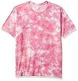 Alternative Men's Go-to Tee, Pink Tie Dye, Large