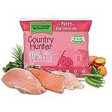 COUNTRY HUNTER Alimentos congelados crudos del perrito de pavo y pescado 1Kg perro de Barf