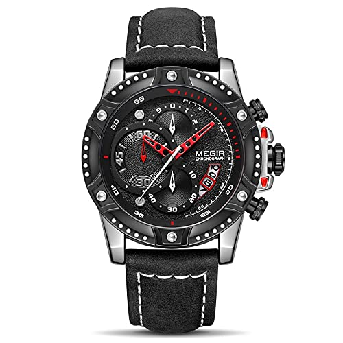 Top marca de lujo reloj de pulsera hombre moda impermeable cronógrafo deportes relojes cuarzo reloj hombre, negro,