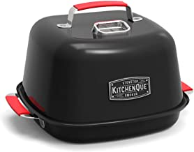 Charcoal Companion CC4132 KitchenQue Indoor Stovetop Smoker, 13.5