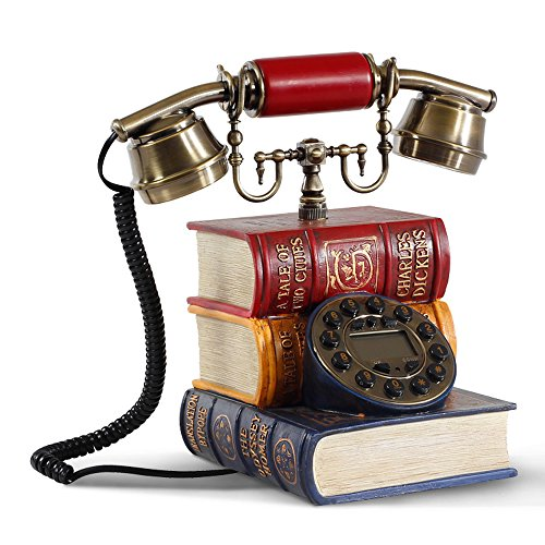 XUQIANG Teléfono Antiguo teléfono Antiguo teléfono de marcación rotativa D16 X W14 X H25CM Artesanía