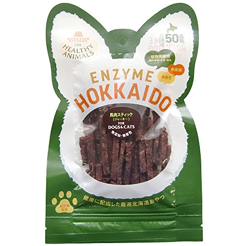 ヘルシーアニマルズ (HEALTHY ANIMALS) 北海道馬肉スティックジャーキー 無添加・無着色 「酵素、たもぎ茸配合」 28g