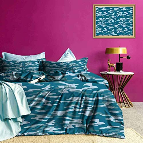 Bettbezug-Set Camouflage Oceanic Colors...