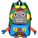 Cartoon Rucksack Kleinkinder Kindergarten Tasche, für Mädchen Jungen 3-8 Jahre Monster, 3D Cute...