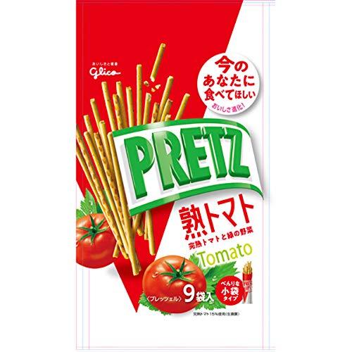 グリコ プリッツ熟トマト9袋 134g×48個入り (1ケース)