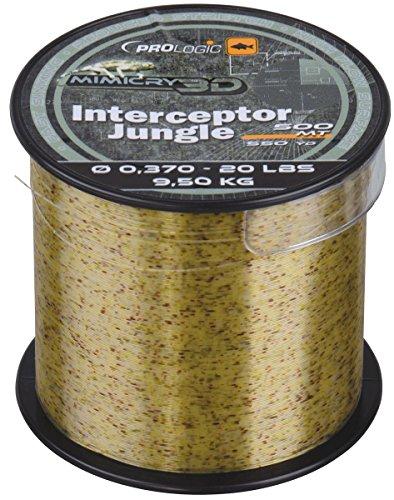 Prologic Interceptor Mimicry Jungle 500m - Karpfenschnur zum Karpfenangeln, Monofilschnur für Karpfen, Angelschnur, Monoschnur, Durchmesser/Tragkraft:0.331mm / 17lbs / 7.8kg Tragkraft