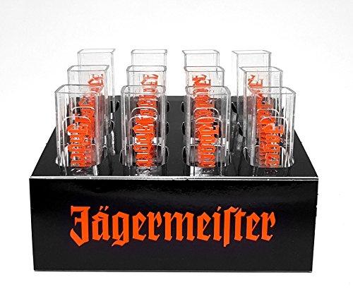 Jägermeister Shotglas Shotgläser Reagenzgläser aus Kunststoff - 12er Packung