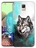 Sunrive Kompatibel mit UMI Rome/Rome X Hülle Silikon, Transparent Handyhülle Schutzhülle Etui Hülle (X Wolf 1)+Gratis Universal Eingabestift MEHRWEG