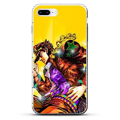 Cases for Apple iPhone 7 Plus/8 Plus, Jojo-Adventure Anime 6 Transparent Thin TPU Shockproof Silikon Coque Cover Phone Cases