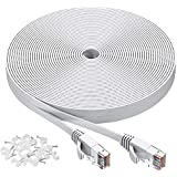 Cat 6 Ethernet Cable 125 ft, Flat Rj45 High Speed Internet Cable, Solid Computer Patch Cable, Long LAN Patch Cord for Modem, Router, PS4, Gaming, Xbox one, Switch Boxes