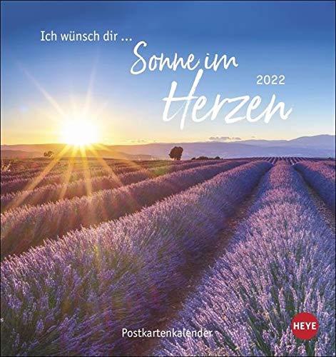 Ich wünsch dir … Sonne im Herzen Postkartenkalender 2022
