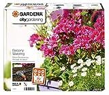 GARDENA city gardening Balkon Bewässerung: Vollautomatisches Blumenkastenbewässerungs-Set, für bis zu 25/5-6 m Balkonkästen, 13 Programme (1407-20) (Farbe/Design Sortiert)