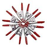 Am-Tech S2972 8pz 50mm Set di Morsetti A Molla in Metallo, Rosso-Nero-Argento, Set di 8 Pe...