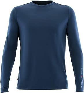 Mens SunShield Permanent Wicking UPF30 Long Sleeve T-Shirt Navy - Lightweight