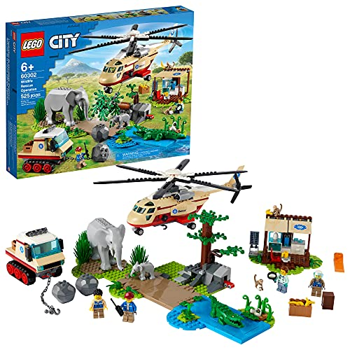 LEGO City Wildlife Rescue Operation 60302 Building Kit; Creative Toy; Best Gifts for Kids; New 2021 (525 Pieces)