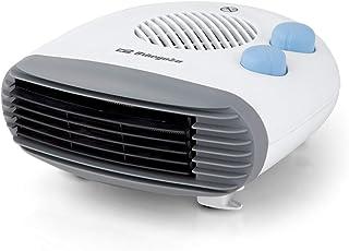 Orbegozo FH-5009 Calefactor Compacto, Función Ventilador, Termostato Regulable, Protección contra Sobrecalentamiento, 2000 W, Blanco