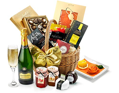 Pembroke Hamper With Prosecco - Hand Wrapped Gourmet Food Basket, in Gift Hamper Box