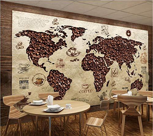 Vintage Envejecido Mapa Del Mundo Papel Pintado Foto Mural Pared Mapa 4302066