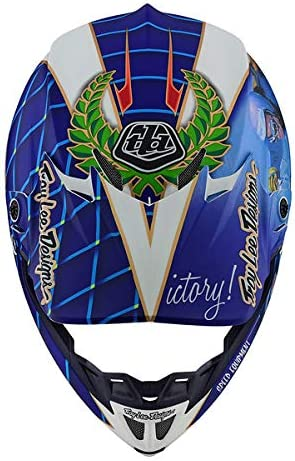 Troy Lee Designs Adult Offroad Motocross Malcolm Smith Composite SE4 Helmet Small, Blue