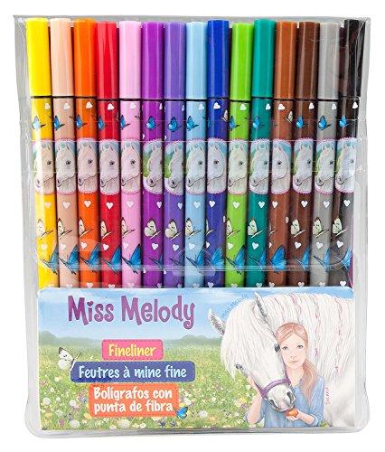 Depesche 8807 - Fineliner Miss Melody Set mit 15 Farben