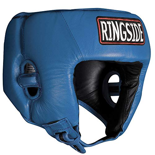 Ringside Competition Boxing Headgear without Cheeks, Blue, Small by...