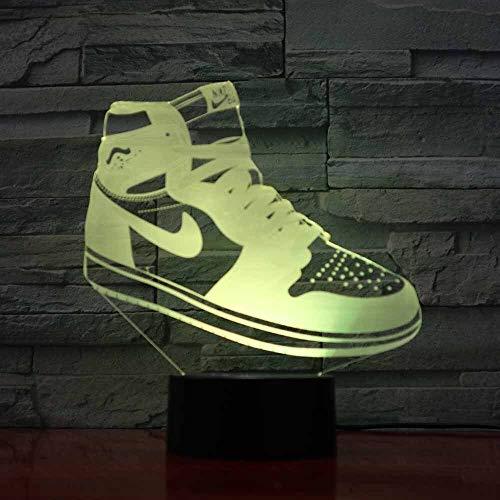 Basketball USB 3D LED Nachtlicht Junge Kinder Kinder Fans Geburtstagsgeschenk LED Schuhe Sportschuhe Heimtextilien