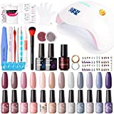 Best Home Gel Nail Kits - Gellen 12 Colors Gel Nail Polish Starter Kit Review