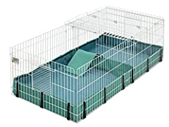 Provides 8 square feet of living area for guinea pigs as recommended by veterinarians and breeders; Assembled product dimensions (Lenght x Width x Height): 47 x 24 x 14 inches Fully removable wire mesh top to protect your guinea pig from predators; T...