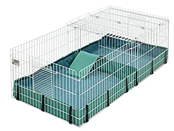 Guinea Habitat Plus Guinea Pig Cage by MidWest w/ Top Panel 47L x 24W x 14H Inches