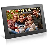 Digital Picture Frame 10 inch Full HD Display Photo 180°View Angle Digital Photo Frame Support Background Music USB SD Slot Calendar Alarm Smart Electronic Picture Frame Motion Sensor Remote Control